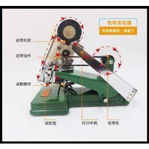 噴碼機 廣林DY-6A直熱式色帶手動打碼機生產日期鋼印機仿噴碼機打碼器 mks薇薇