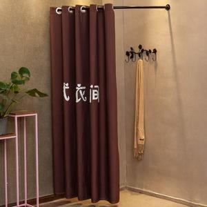 服裝店試衣間 架子可移動 定制門簾換衣間