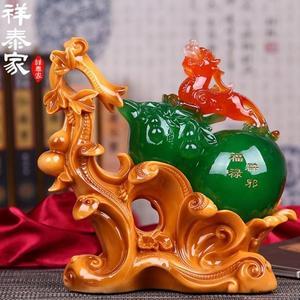 金豬迎新 招財貔貅葫蘆擺件辦公室客廳桌面創意家居家裝飾品風水工藝品擺設