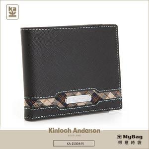 Kinloch Anderson 金安德森 皮夾 英雄Legend  黑色 男用短夾 左右翻子母型對開 KA153001 MyBag得意時袋