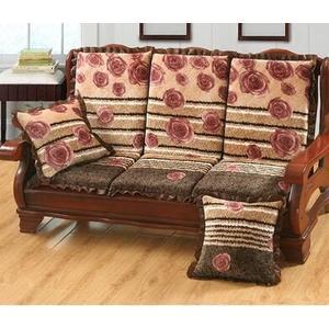 椅墊 可拆洗實木沙發墊防滑加厚海綿坐墊三人坐帶靠 萬客居