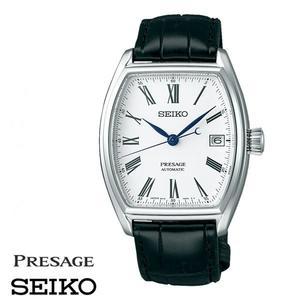 SEIKO 精工錶 Presage 白面琺瑯酒桶皮帶機械錶 SPB049J1 6R15-03T0S 公司貨 | 名人鐘錶