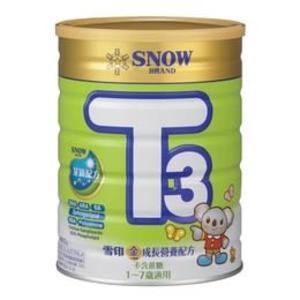 ☆愛兒麗☆雪印 金T3成長營養配方/成長奶粉900gx7罐(買6送1)贈好禮