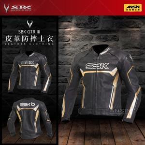 [中壢安信] SBK GTR3 GTR III 黑金 皮革防摔夾克 皮衣 上衣 防摔 皮革 夾克 騎士