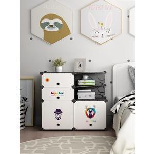 臥室簡易床頭櫃簡約現代經濟型塑料組裝收納儲物床邊小櫃子多功能 HM衣櫥秘密