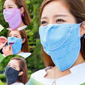 抗UV透氣防晒口罩 防曬防塵口罩(圓點)-艾發現