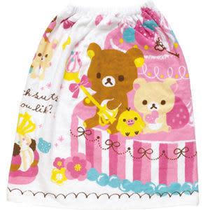 San-X 拉拉熊 懶懶熊 草莓變裝系列 兔子小浴巾(60cm)