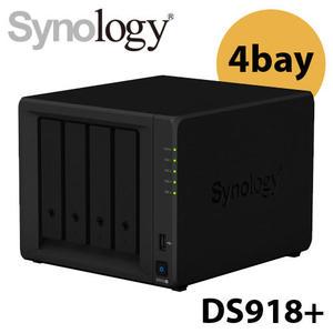 Synology 群暉科技 DS918+ 4Bay NAS網路儲存系統