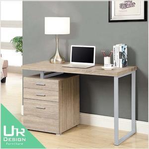北歐鄉村風康迪仕摩登淺木色4尺電腦書桌(19JX/548-2)
