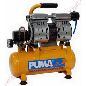PUMA 2HP*6L 靜音 無油 雙缸空壓機