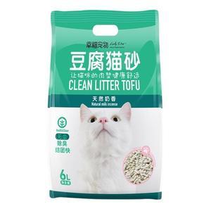 貓砂豆腐貓砂原味植物貓砂6L除臭無塵貓沙玉米貓砂豆腐砂貓咪用品 都市韓衣
