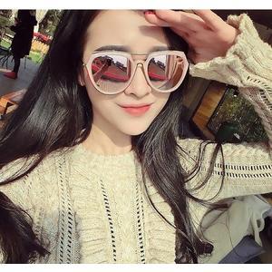 太陽眼鏡網紅偏光太陽鏡女新款潮大臉長臉粉色圓臉墨鏡有度數眼鏡 歐美韓