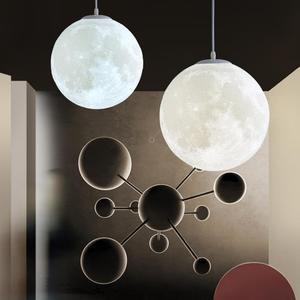 月球燈3D打印床頭臥室家用圓球吊燈