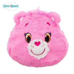 日本限定 Care Bears 彩虹熊 絨毛 收納包 / 化妝包 (粉)