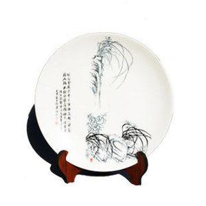 景德鎮陶瓷家居裝飾 掛盤25cm盤子四君子蘭花