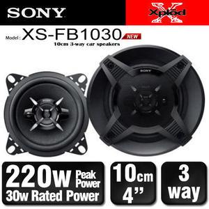 【旭益汽車百貨】SONY 4吋三音路同軸喇叭 XS-FB1030