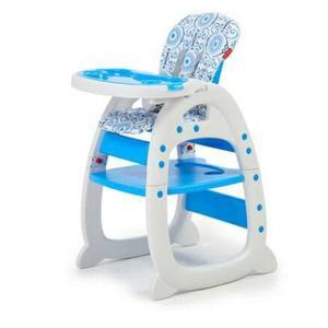 [家事達] Mother's love-多功能二合一 兒童餐椅(餐椅+課桌椅)-白藍色  特價 二用書桌餐椅