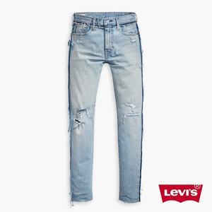 Levis 男款 上寬下窄 / 512 Taper 低腰修身窄管牛仔長褲 / INDISEOUT 率性破壞