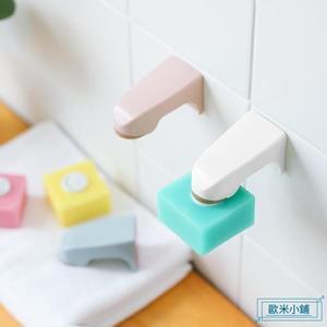 肥皂架  磁吸式香皂架肥皂盒 浴室創意強力磁鐵吸皂器衛生間瀝水架 歐米小鋪