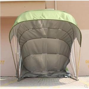 車棚 半自動防雨家用車棚行動折疊車庫伸縮停車棚戶外汽車遮陽棚帳篷JD 一件免運