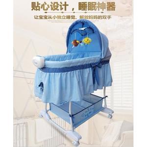 嬰兒床 嬰兒搖籃床歐式bb新生兒搖床睡籃帶蚊帳滾輪 多功能寶寶床搖籃床YYS   新年下殺