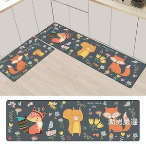 廚房地墊廚房地墊防滑防油長條家用防水墊子地毯門墊pvc皮革xw