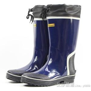 雨鞋男款秋冬保暖絨防水高筒橡膠套鞋膠鞋膠靴防滑釣魚鞋長筒水鞋 艾莎嚴選
