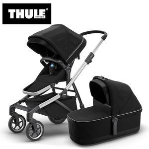 【愛吾兒】瑞典 THULE Thule Sleek推車+睡箱 尊爵黑