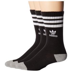 Adidas-  愛迪達學童3雙組襪子(黑)