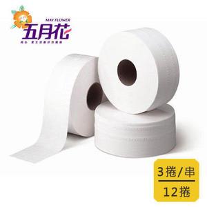 【五月花】大捲筒衛生紙 (800gx3捲x4串/箱)