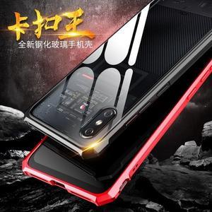 小米8 Pro 手機殼 防摔 小米 8 螢幕指紋版 保護套 金屬邊框 透明玻璃後蓋 保護殼 免螺絲 卡扣王
