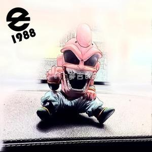 動漫擺件動漫七龍珠超級賽亞人GK魔人布歐搞怪創意車載汽車潮裝飾 麥吉良品