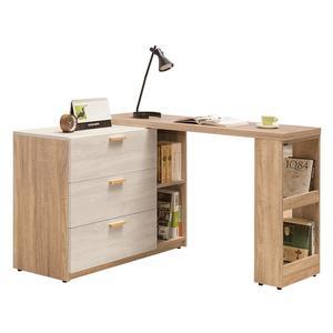 【森可家居】葛瑞絲4~7尺伸縮收納櫃(全組) 8ZX819-4  L型 伸縮書桌 中島 廚房碗盤櫃 木紋質感 北歐風