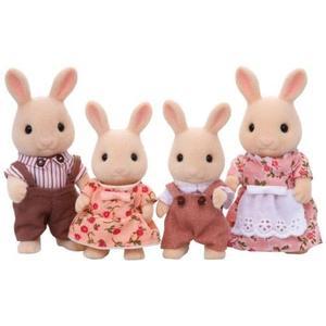 森林家族 人偶 牛奶兔家庭組