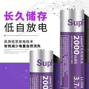 神火18650鋰電池充電3.7v強光手電筒大容量動力小風扇電蚊拍頭燈 名購居家