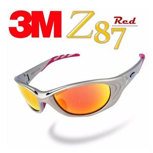 3M Z87 經典款酷炫運動眼鏡(Red)