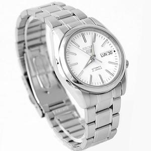 手錶 SEIKO銀色刻度機械錶  柒彩年代【NES7】附贈禮盒+提袋