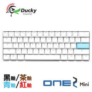 Ducky One 2 Mini 白色版 60% PBT二色成形不破孔 Cherry MX RGB 機械軸 機械式鍵盤 紅軸 青軸 茶軸