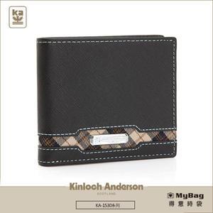 Kinloch Anderson 金安德森 皮夾 英雄Legend 黑色 男用短夾 左右翻固定頁 KA153002 MyBag得意時袋