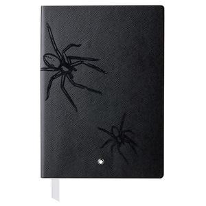 MONTBLANC 萬寶龍 真皮筆記本-傳承紅與黑蜘蛛特別版-A5橫線/黑色 117868