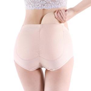 夏季加海綿墊內褲女提臀翹臀褲中腰假屁股可拆卸臀墊假臀部豐臀褲