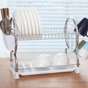 瀝水架兩層碗碟架碗筷瀝水架餐具架放碗架廚房置物架收納架wy