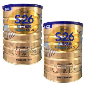 惠氏 S-26 金幼兒樂1-3歲幼兒成長奶粉1600g (兩罐入)-升級金配方【新包裝】