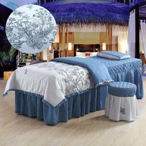 美容床罩 政博美容院用品美容床床套按摩床罩套專用美容床罩四件套簡約 MKS小宅女