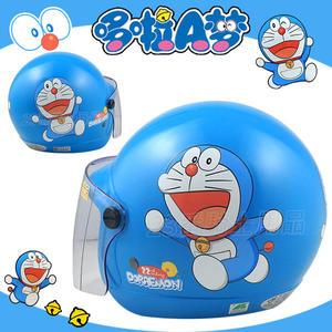 【KK  兒童帽 哆啦A夢 04 藍 小叮噹 兒童 安全帽 】3/4罩、附鏡片