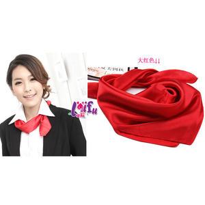 來福,K126純色絲巾餐飲銀行空姐制服絲巾領巾圍巾,售價150元