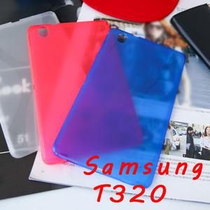 Samsung tab pro8.4吋 T320清水套 X紋路造型 半透明矽膠套 軟殼保護套