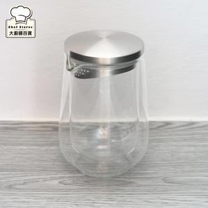 天堂鳥隨行壺雙層玻璃泡茶杯250ml泡茶壺茶海附濾網-大廚師百貨