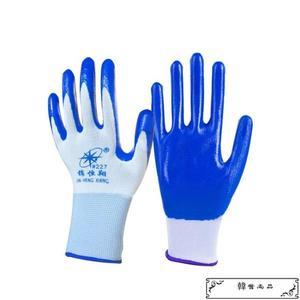 手套勞保浸膠耐磨 工作防水防滑 塑膠橡膠工業帶膠膠皮手套