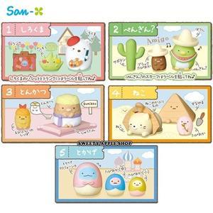 日本限定 角落生物 異國風情 橡皮擦 盒玩 全5種共5入 整組販售